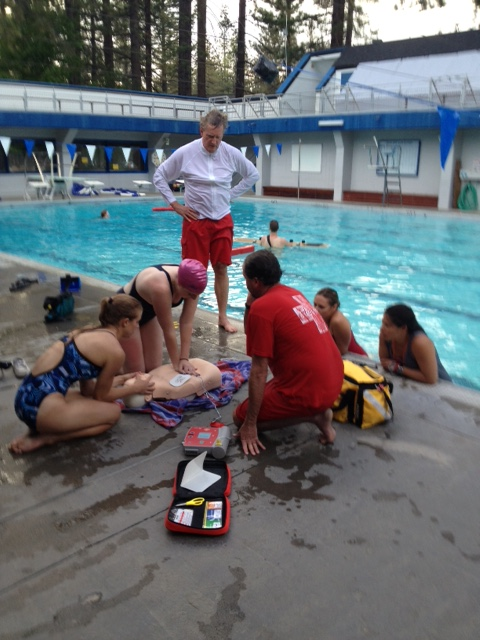 Kids at Lifeguard Class