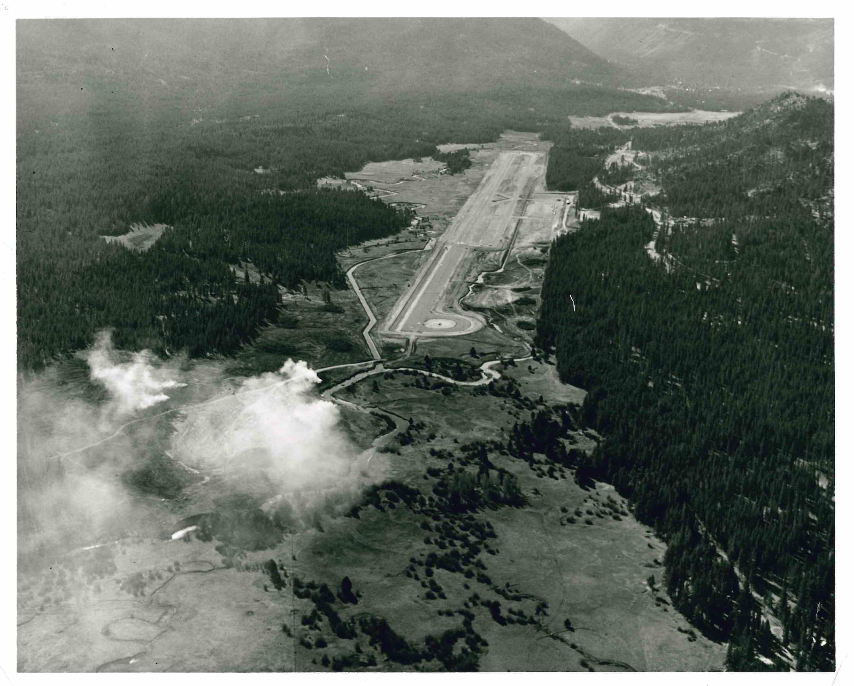 Aerial view of Lake Tahoe Airport 1965