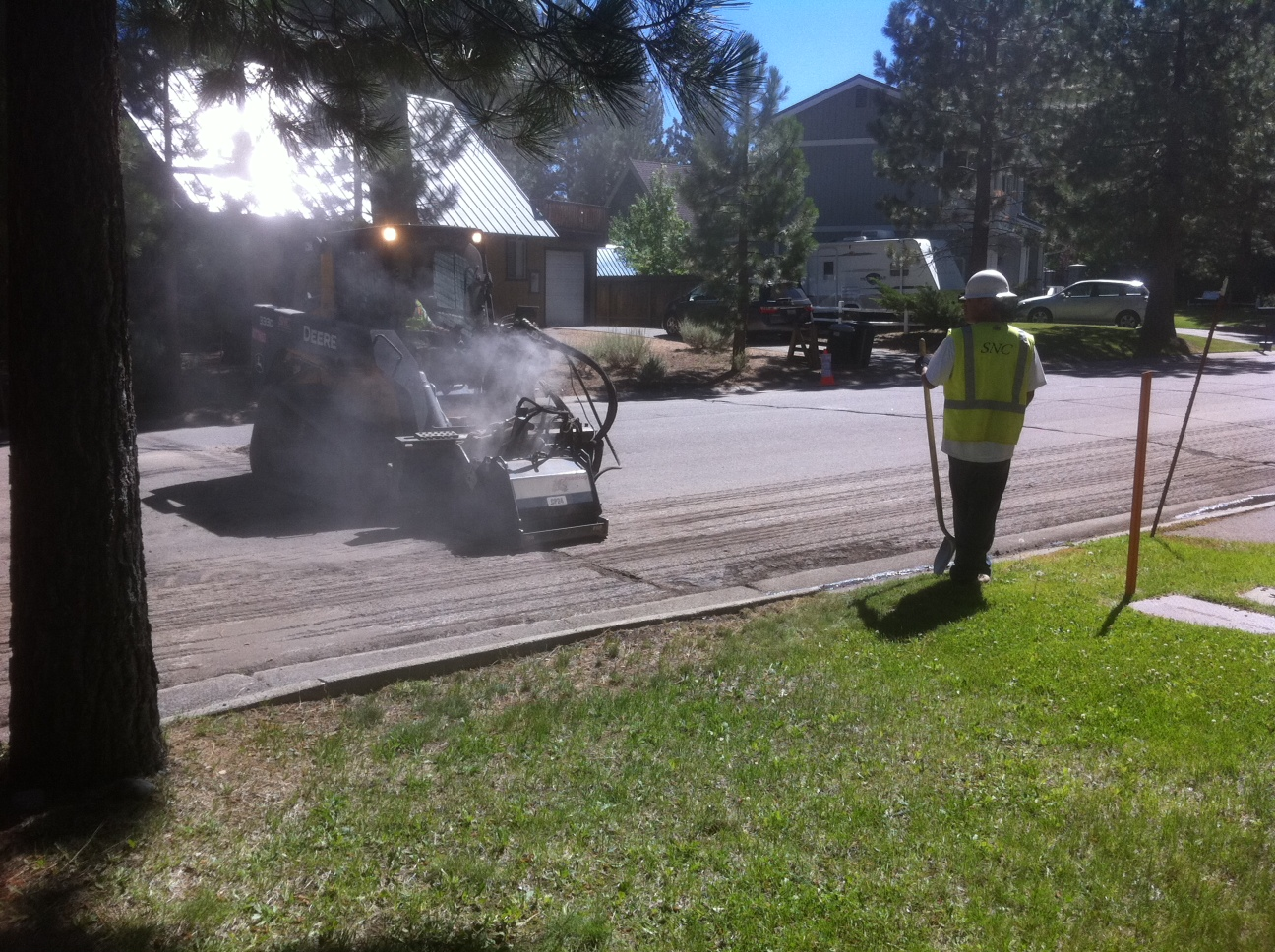 Repairing Cracks on Springwood road