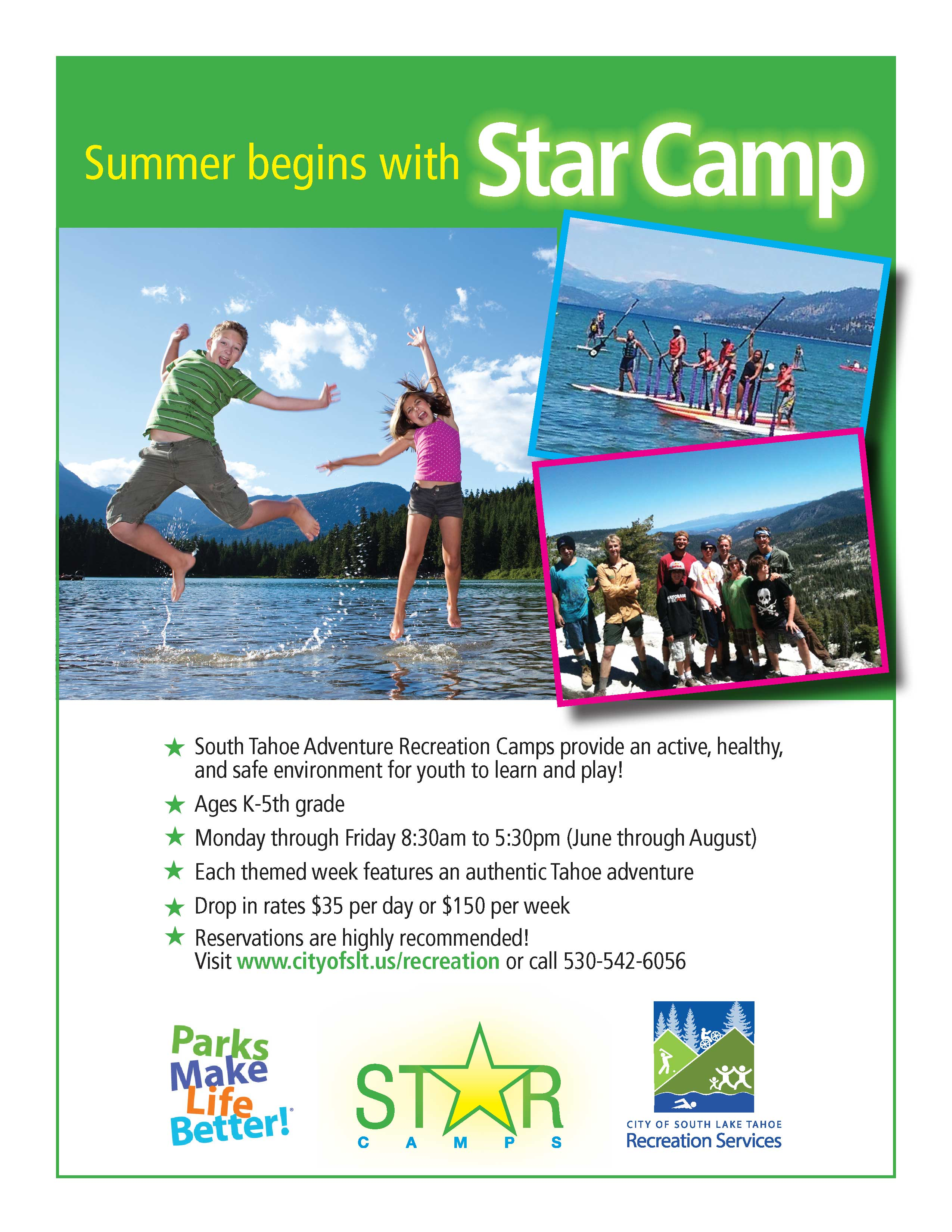 2016 Star Camp flyer