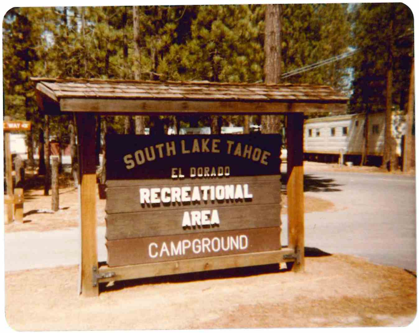 Campground by the Lake Sign 1981