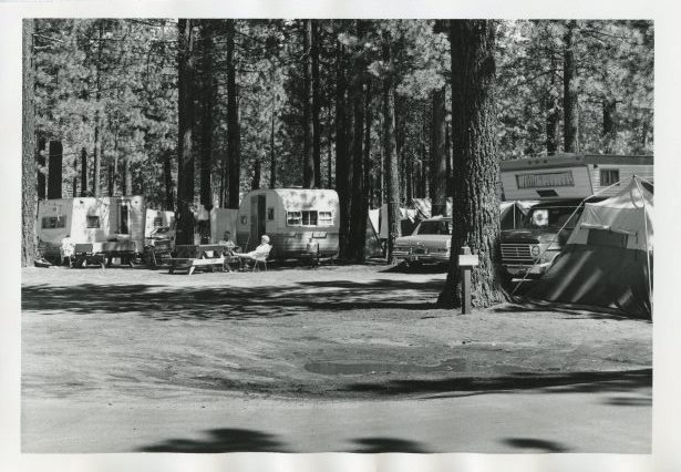 Trailers at the Campground by the Lake
