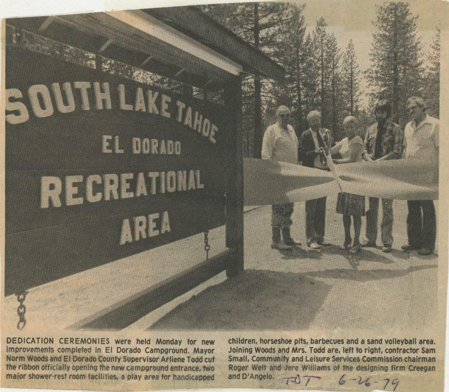 1979 Campground by the Lake Ribbon Cutting Ceremony