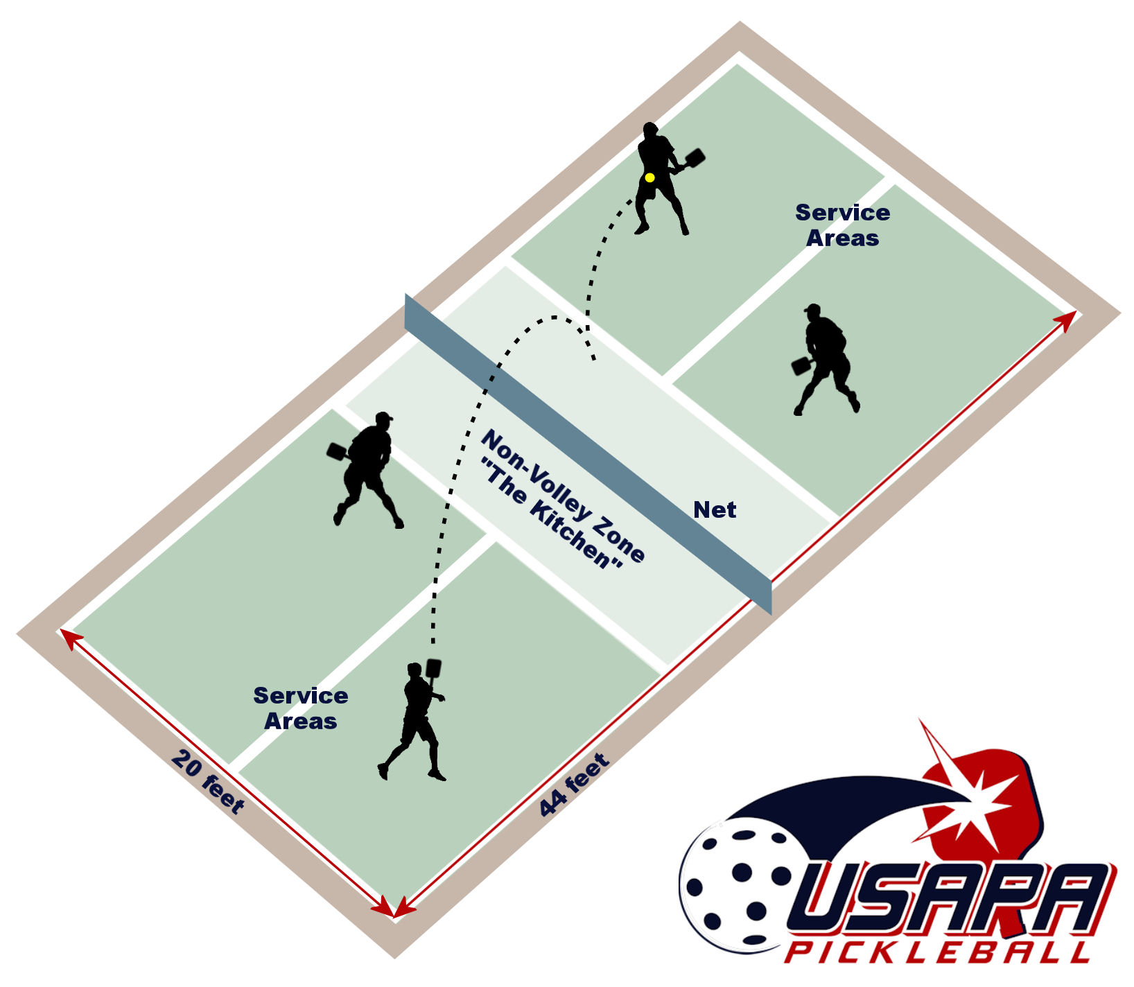 pickleball court illustration
