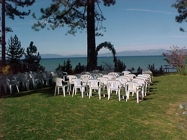 Chairs set up at Regan Beach West