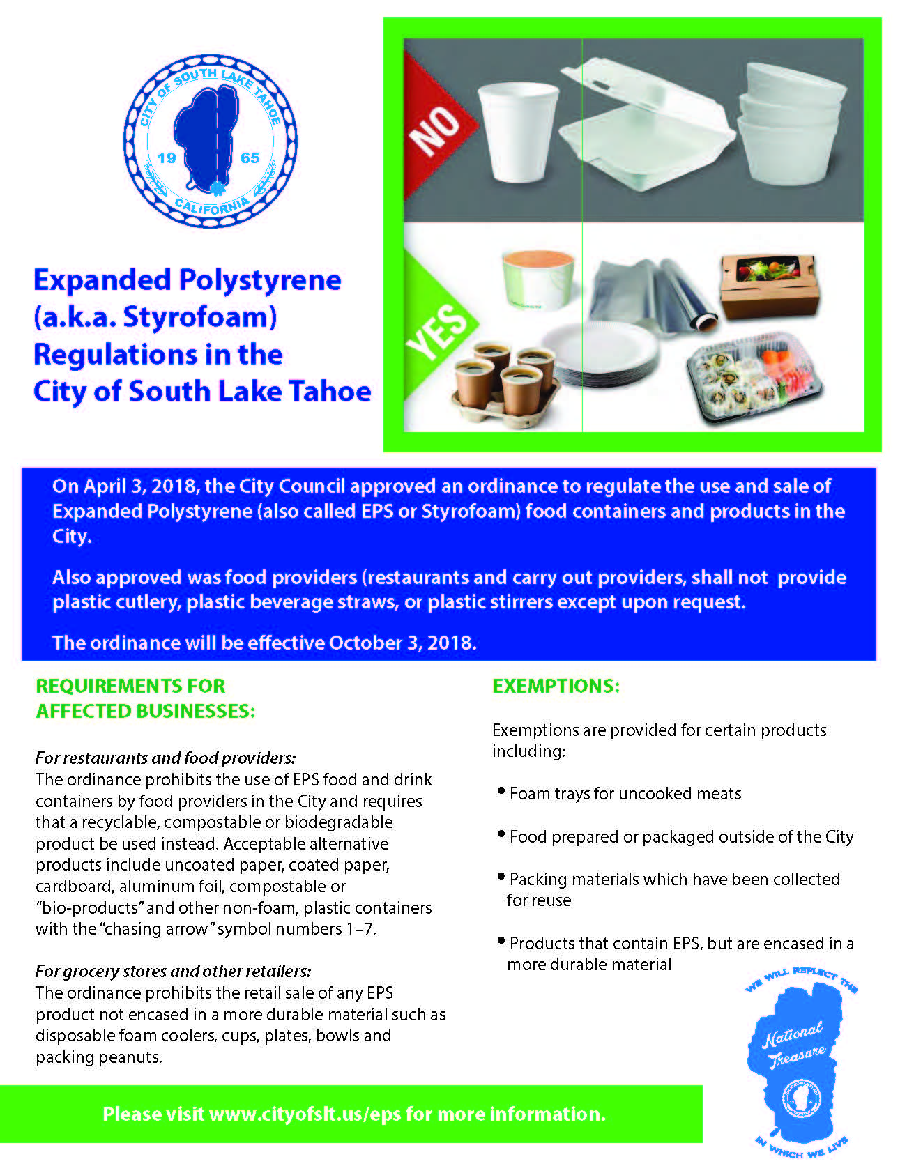 Expanded Polystyrene (EPS) Flyer for Businesses