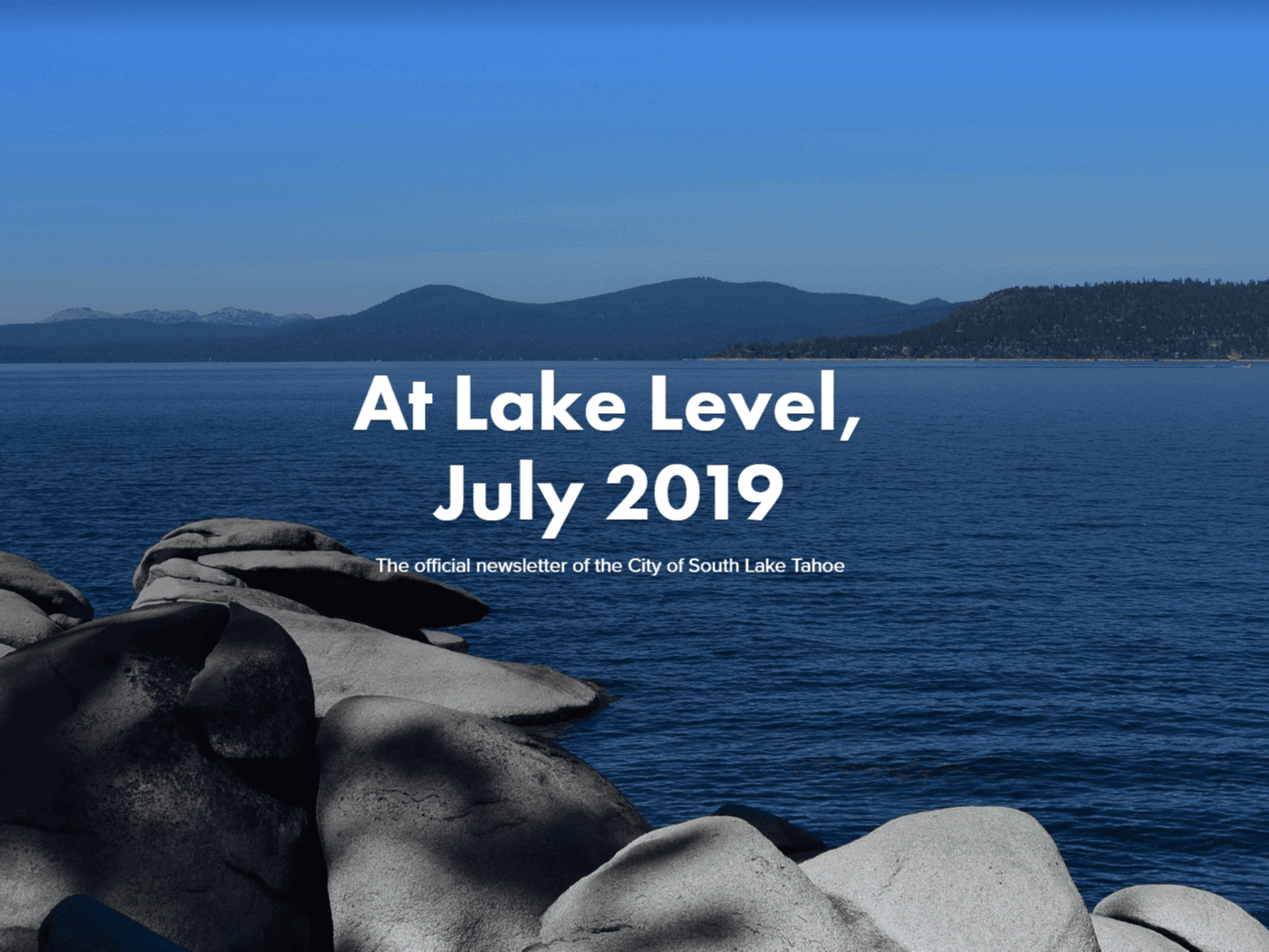 AT Lake Level July 2019