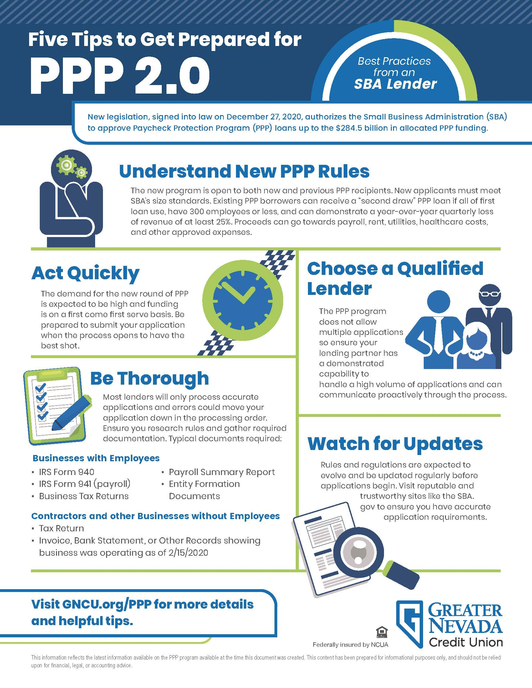 PPP 2.0 5 Tips Flyer GNCU