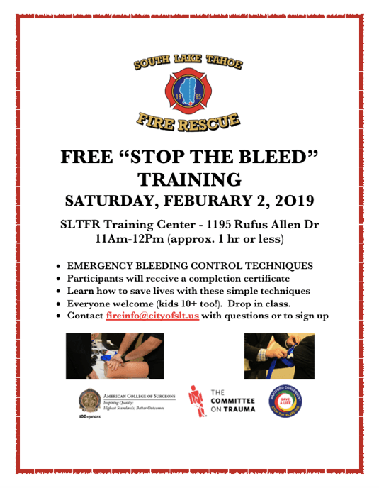 Stop The Bleed Flyer