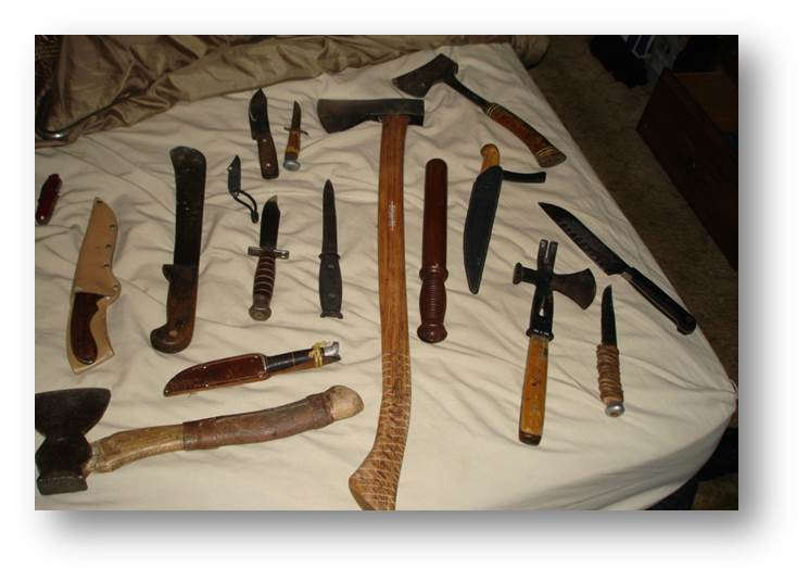 Weapons from Juggalo gang case.jpg